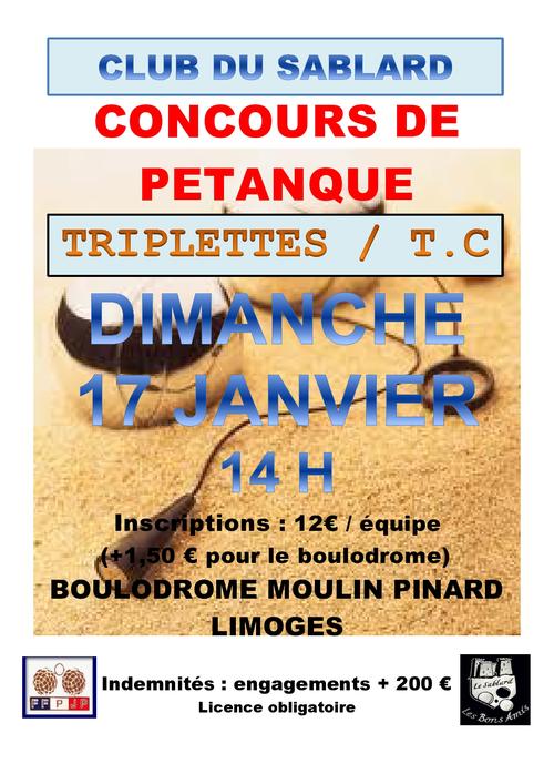 Concours de p tanque officiel limoges 17 janvier 2016 for Choisir ses boules de petanque