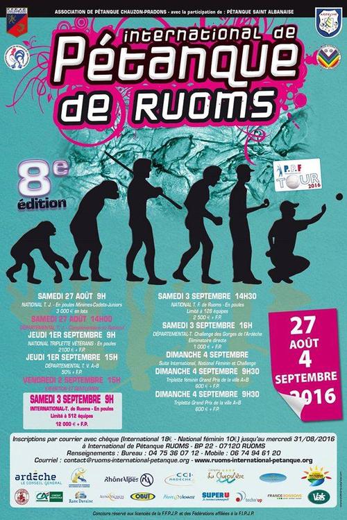Concours de p tanque officiel ruoms 03 septembre 2016 for Choisir ses boules de petanque