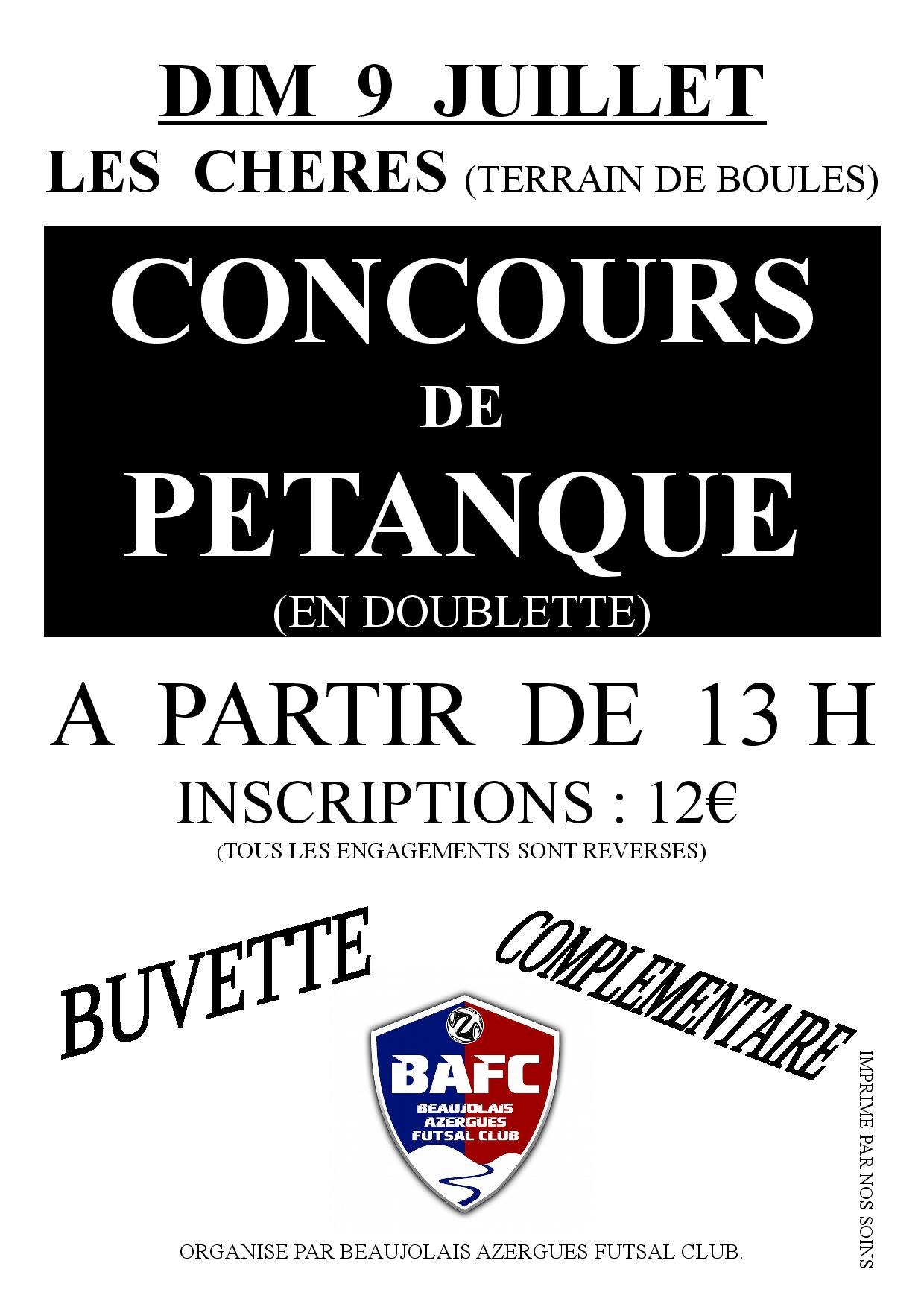 Concours de p tanque ouvert tous les ch res 09 for Choisir des boules de petanque